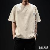 2019新款夏季韓版短袖T恤加大碼寬鬆圓領薄休閒T恤 QW3689『俏美人大尺碼』