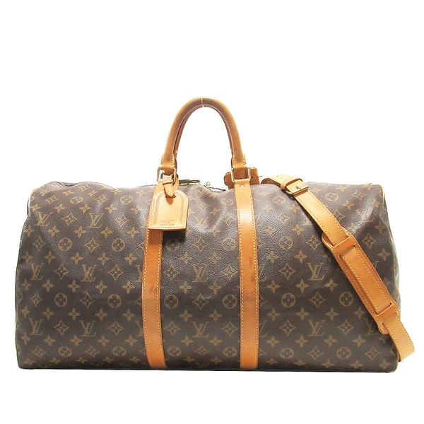 LOUIS VUITTON LV 路易威登 原花手提肩背旅行袋55公分(附背帶) Keepall 55 M41414