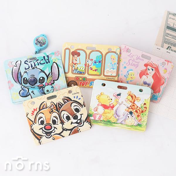 【迪士尼硬殼滑推式票卡夾 附易拉扣】Norns 正版授權 票夾證件套 維尼 愛麗絲 史迪奇 玩具總動員