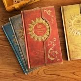 魔法筆記磁扣本復古歐式日記本手賬本韓國筆記本子彩頁插畫日程本