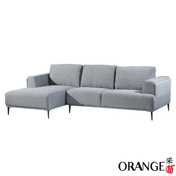 【采桔家居】凱文 現代灰透氣亞麻布L型沙發組合(左&右二向可選+椅背滑移功能設計)