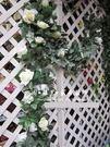 大玫瑰加長高仿  綠葉藤...