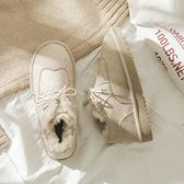 加絨雪地靴女秋冬棉鞋2020新款時尚冬季百搭女鞋學生韓版加厚冬鞋