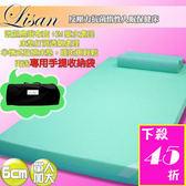 lisan反壓力6cm單人加大記憶床墊  免運!《贈專用收納袋+高科技惰性枕》!-賣點購物
