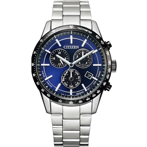 CITIZEN星辰 極速城市萬年曆光動能腕錶 BL5496-96L