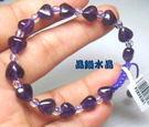 『晶鑽水晶』天然紫水晶手鍊搭配天然白水晶...