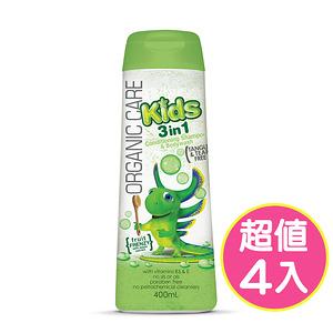 【澳洲Natures Organics】植粹兒童泡泡洗髮沐浴露Frenzy400mlx4入