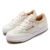 Reebok 休閒鞋 Club C 85 米白 卡其 牛奶糖 女鞋 經典款 百搭鞋款 【ACS】 FZ1280