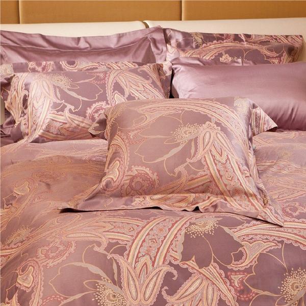 床包 / 特大雙人含枕套 -100%特級長纖義大利進口埃及棉【Purple】溫馨時刻1/3