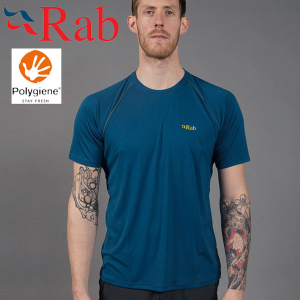 Rab 英國 QBU43-IK墨藍 男抗菌排汗短T恤Aerial Tee