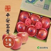 綠田農場.嚴選平安富貴禮盒(蘋果x6粒/盒),共二盒﹍愛食網