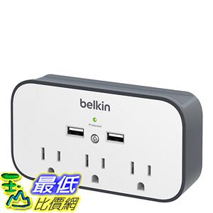 貝爾金 擴充插座 壁插 Belkin BSV300ttCW 3-Outlet Wall Mount Cradle Surge Protector with Dual USB Charging