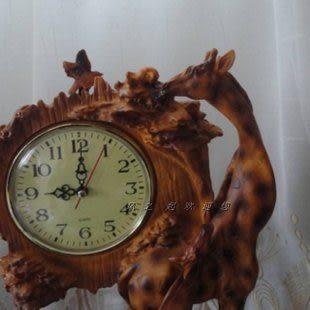 新房裝飾品擺件家居商務禮品擺設樹脂工藝品擺件現代鹿坐坐鐘擺鐘