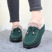 雪地靴女 老北京棉鞋女冬季保暖加絨加厚短款平底防滑雪地靴媽媽毛毛鞋【免運】