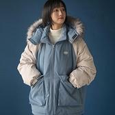 羽絨服女 羽絨服女新款冬中長款棉衣棉服潮寬鬆外套小個子藍色學生【快速出貨】