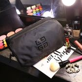 快速出貨八折促銷-大容量洗漱包收納包 黑色韓國防水手提 旅行男女化妝包 免運