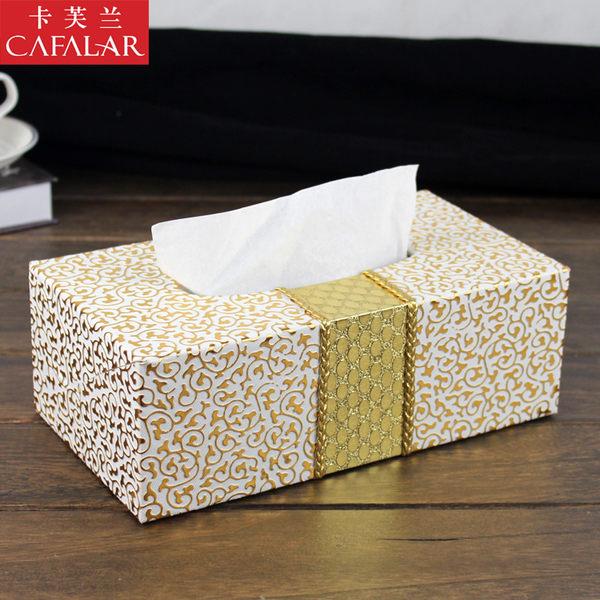 歐式皮革紙巾盒 餐巾抽紙盒 客廳茶幾創意手紙盒車用家用簡約可愛  可然精品鞋櫃