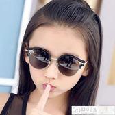 墨鏡 圓框兒童偏光太陽鏡男童女童墨鏡蛤蟆鏡大童小童款防紫外線 居優佳品