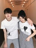 情侶裝法國小眾情侶裝夏裝套裝2019新款韓版短袖T恤學生氣質小眾設計感 貝芙莉