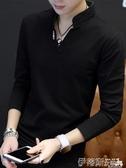 polo衫秋季短袖t恤男新款衛衣男裝長袖體恤打底衫青年polo衫上衣服 春季特賣