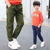 男童褲子夏款休閒褲2018新款男孩運動褲中大兒童長褲6-13歲三角衣櫥