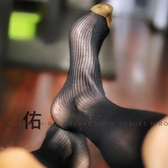 高筒細條紋男士暗紋絲襪日本正裝商務絲襪絲襪男 快速出貨