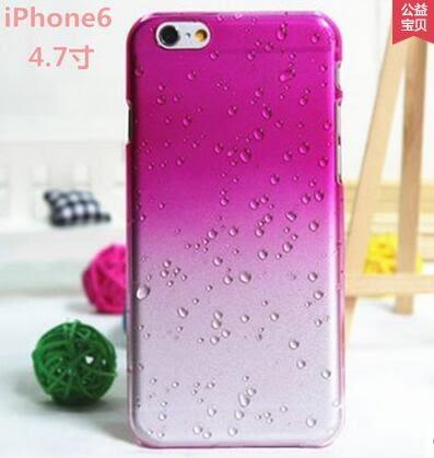 【PU22】iPhone 6s 手機殼 雨滴漸變 iphone 6 plus 手機殼 漸變 雨滴 透明 保護殼 iphone se  手機殼