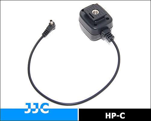 又敗家@JJC Canon閃燈相機PC轉熱靴同步線連接器HP-C機頂閃燈離機線(可接外閃觸發器)適有PC同步端子