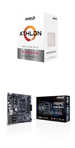 (AMD 3000G組合)AMD Athlon-3000G+華碩PRIME A320M-K