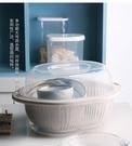 洗菜盆 雙層帶蓋塑料洗菜籃廚房瀝水籃家用...