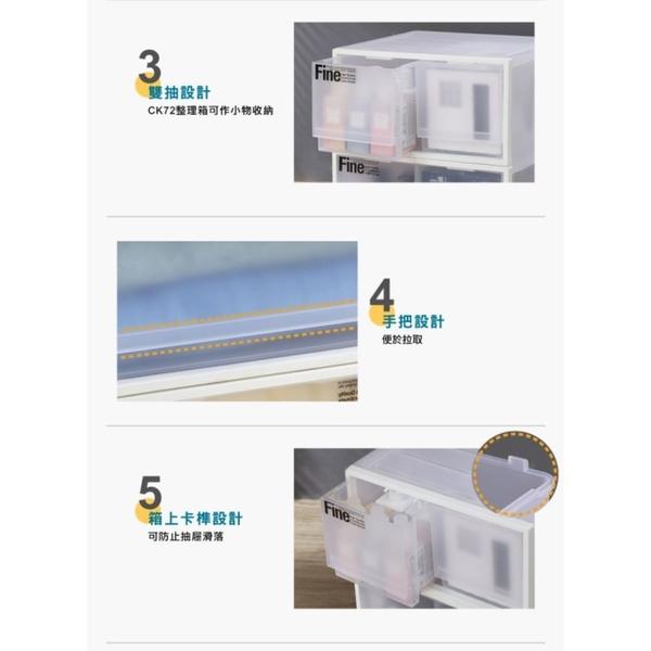MIT 透明20L抽屜整理箱:單抽/雙抽  罝物箱 收納箱