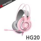 FANTECH HG20 白光立體聲電競耳機-櫻花粉