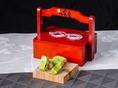 【哈客愛】吉祥原木禮盛(小) (擂茶杏仁牛軋糖150公克/盒)(北埔客家擂茶  高纖 低糖 低熱量)