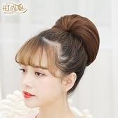 時尚魅 丸子頭假髮包盤發器新款娘發飾造型赫本花苞頭飾古裝發髻