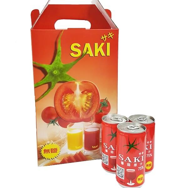 (韓國)SAKI無鹽蕃茄汁 番茄原汁禮盒 1箱15罐 (180ml*15罐)