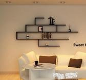 創意電視櫃壁掛背景牆裝飾架隔板牆上置物架書架擱板造型壁掛牆架 ATF 夏季狂歡