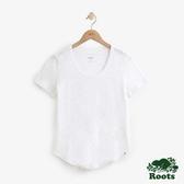 女裝Roots 素面短袖T恤 - 白色