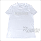 CK Calvin Klein 經典文字LOGO拼接立體造型男仕短袖T恤(S/白)