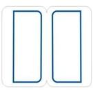 《享亮商城》藍框索引標籤 1021  24*27mm  鶴屋