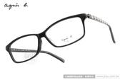 agnes b.光學眼鏡 AB2090 BCA (黑-條紋) 普普風條紋簡約款 #金橘眼鏡