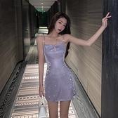 洋裝 名媛小禮服裙女平時可穿短款性感宴會氣質顯瘦洋裝生日派對連衣裙