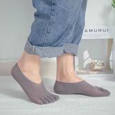 五指襪男夏季船襪超薄款防臭吸汗腳底分腳趾隱形透氣短筒運動襪子