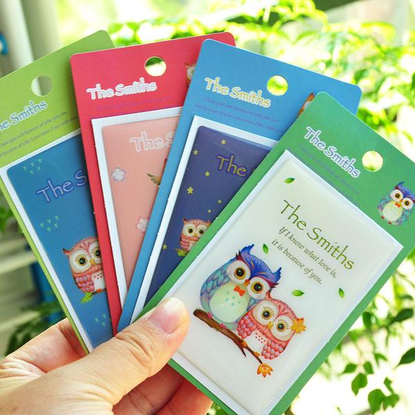 【00487】 創意可愛卡通卡貼 悠遊卡 一卡通 I-cash 果凍裝飾貼 貓頭鷹