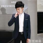 小西裝男士春季英倫休閒單西青年韓版修身型西服男裝上衣外套潮流