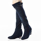 ★2015秋冬★Keeley Ann 宴會名媛~閃耀串珠造型楔型長靴(藍色)