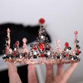店長推薦▶巴洛克2018金色新娘頭飾皇冠中式圓形公主結婚婚紗禮服配飾品仙美