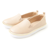 Petite Jolie 金屬飾邊亮面帆布鞋-粉膚