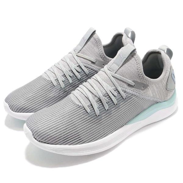 Puma 慢跑鞋 Ignite Flash Stripped Wns 灰 綠 雪花 低筒 避震回彈 女鞋 運動鞋【ACS】 19051503