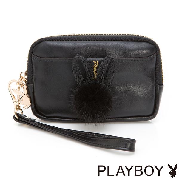 PLAYBOY- 零錢包 跳躍毛毛兔系列-優雅黑