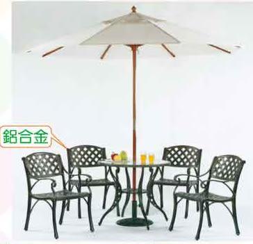 【南洋風休閒傢俱】戶外鋁合金桌椅系列- 編織扶手椅 鋁合金 戶外休閒餐桌椅 (594-18)